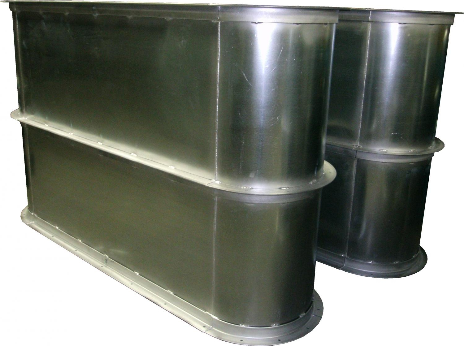 16 Gauge Welded Galvanized Oval Duct